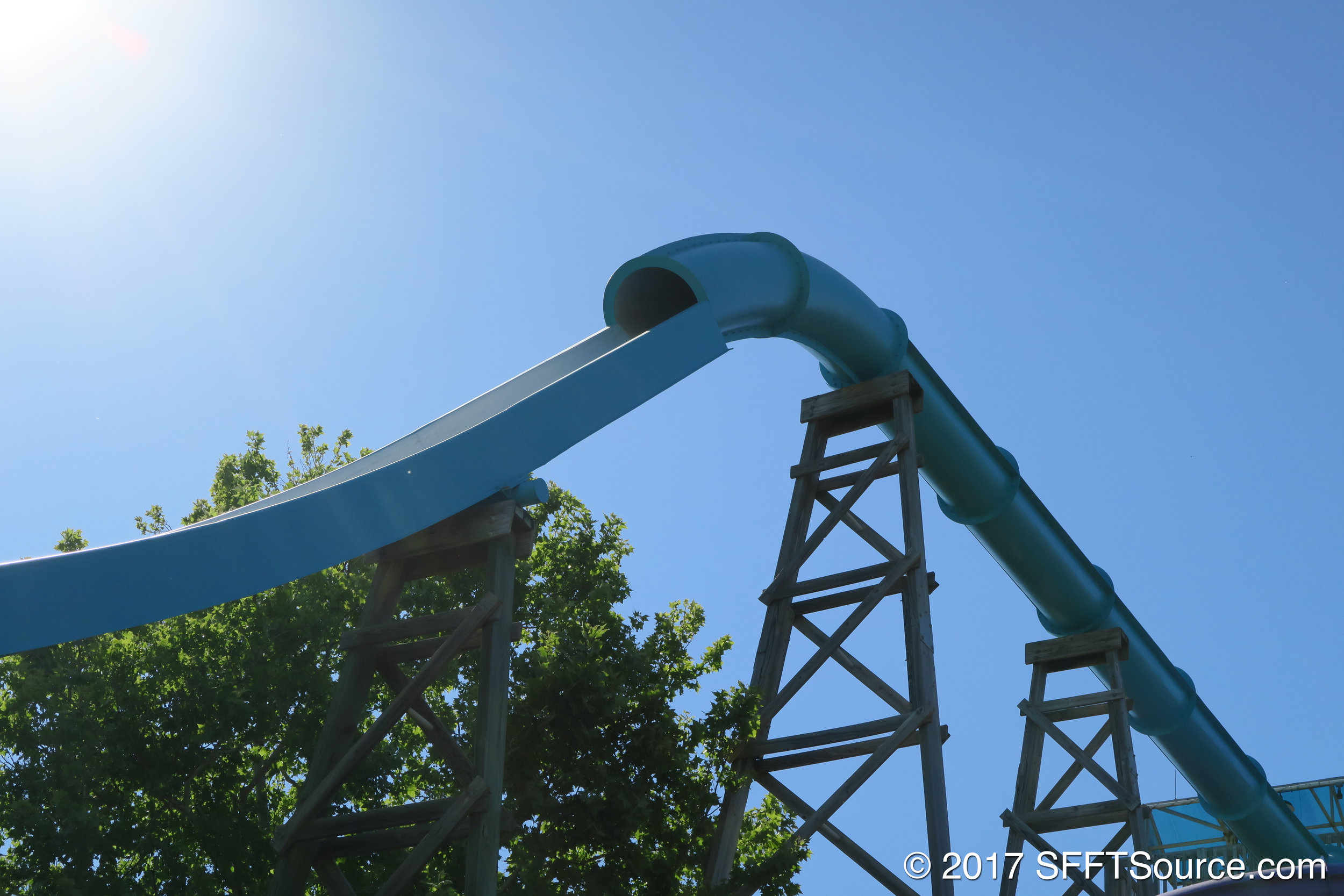 Paradise Plunge features a steep final drop.