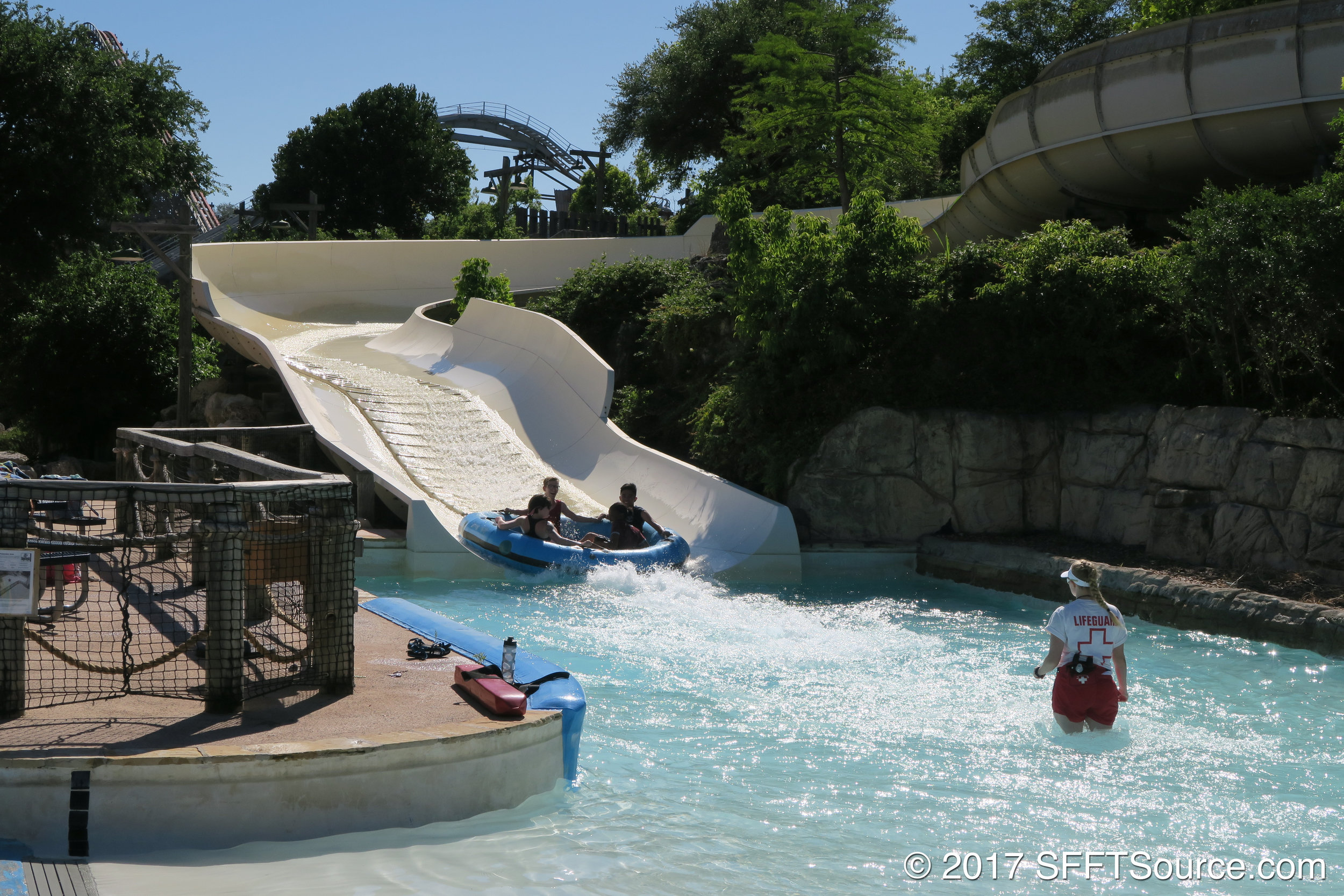 Texas Tumble is an open tube water slide.