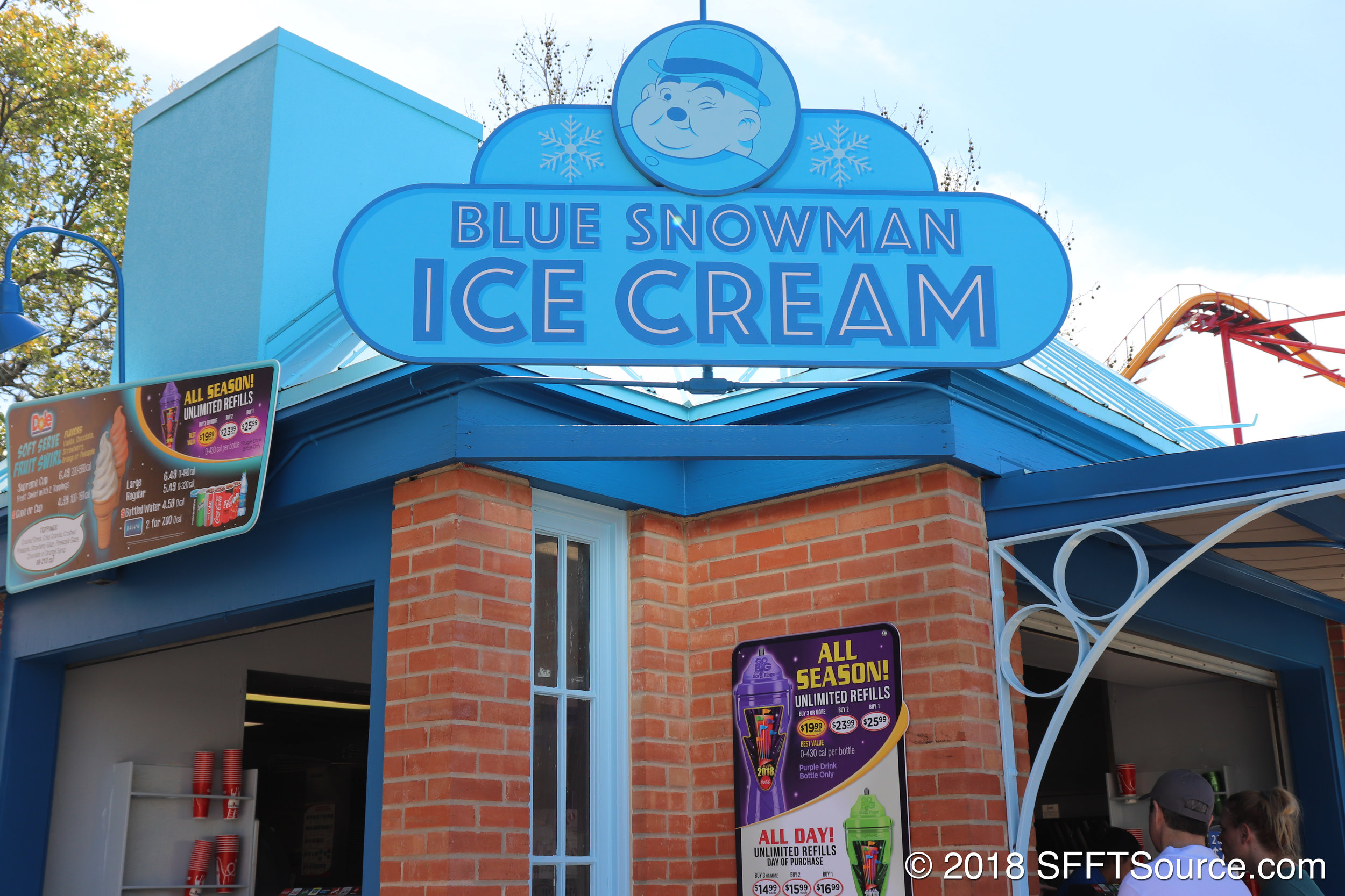 Blue Snowman Ice Cream is located in DC Universe.