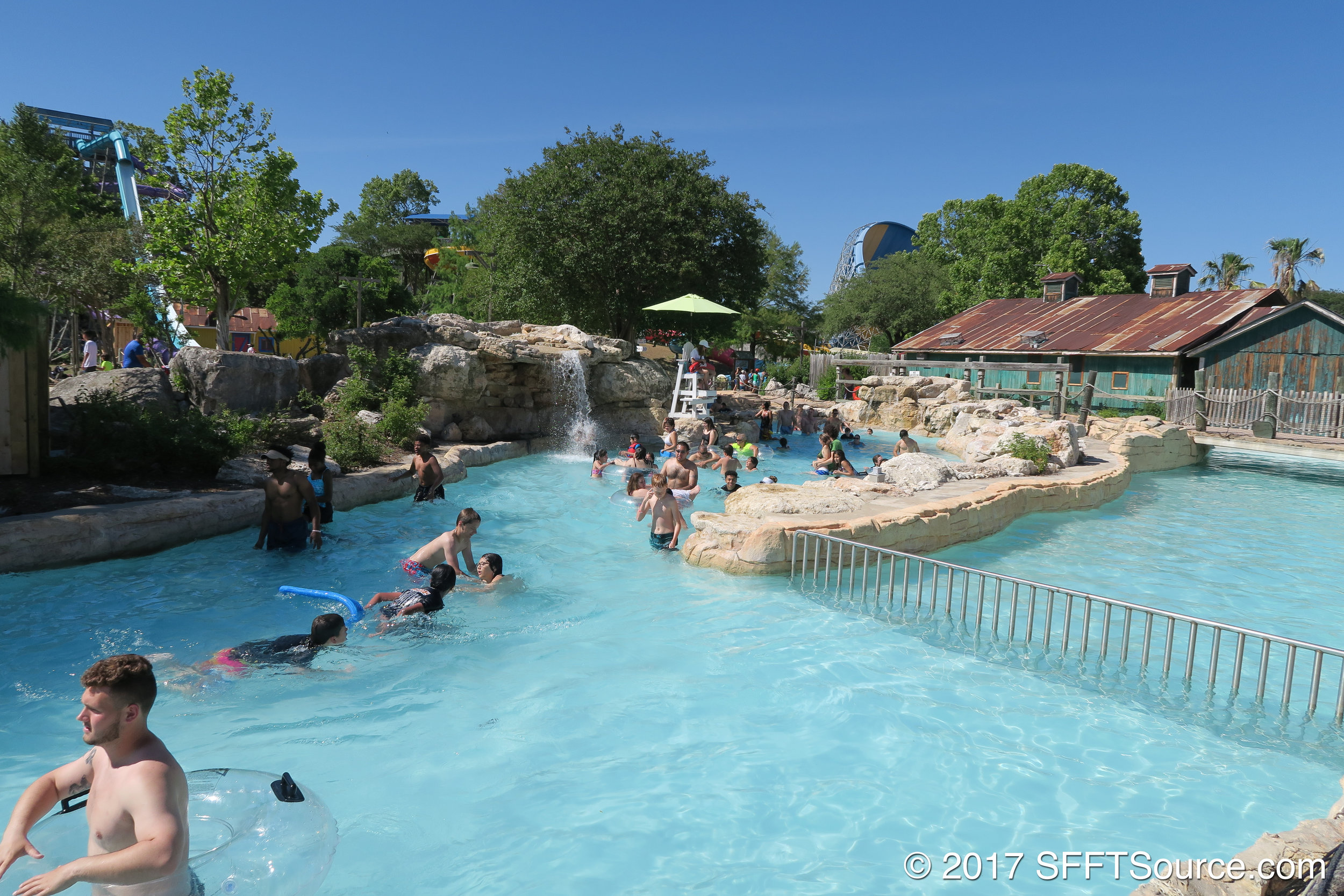 Guests can use a tube or swim the river.