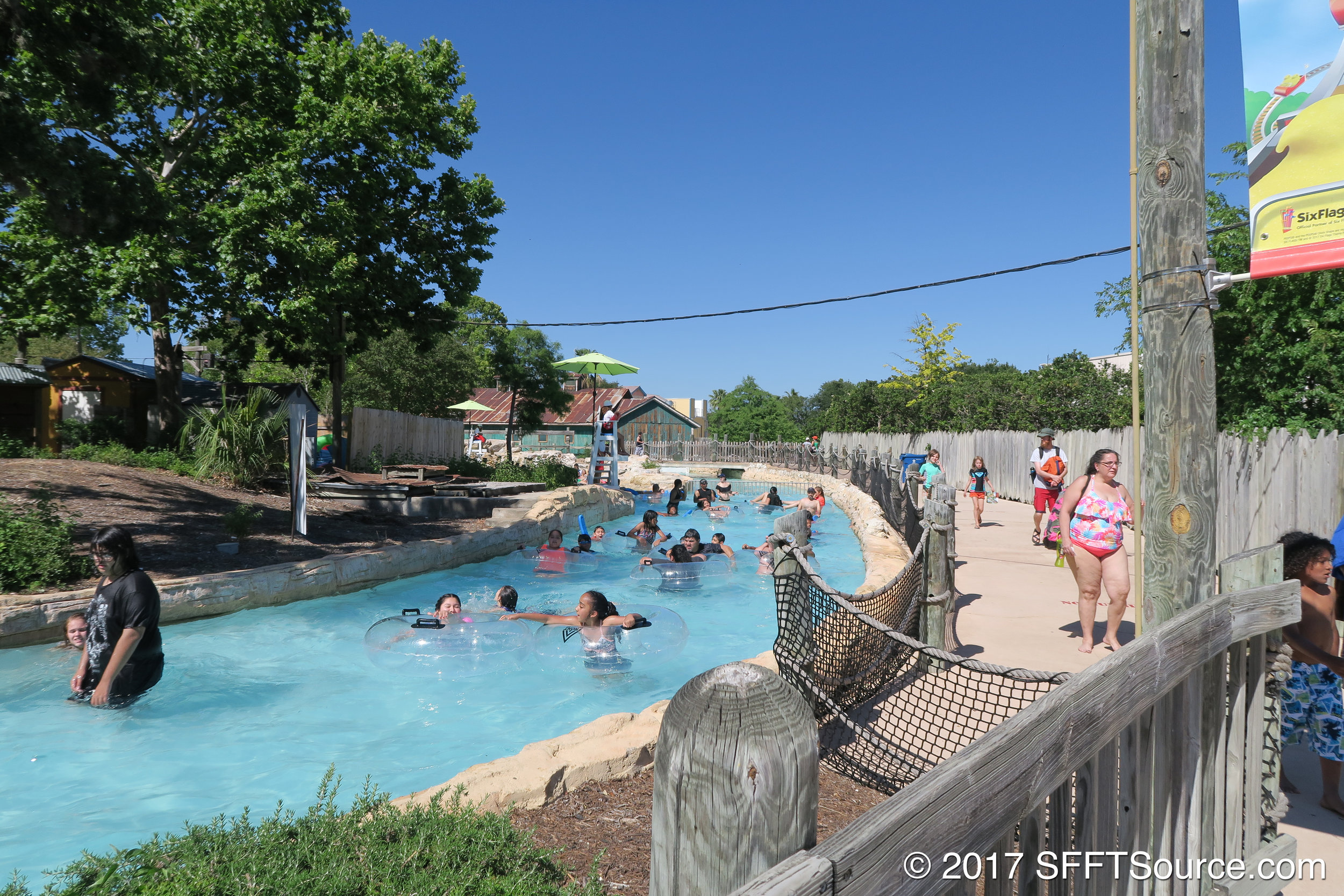 White Water Canyon is an opening-year attraction at Fiesta Texas.