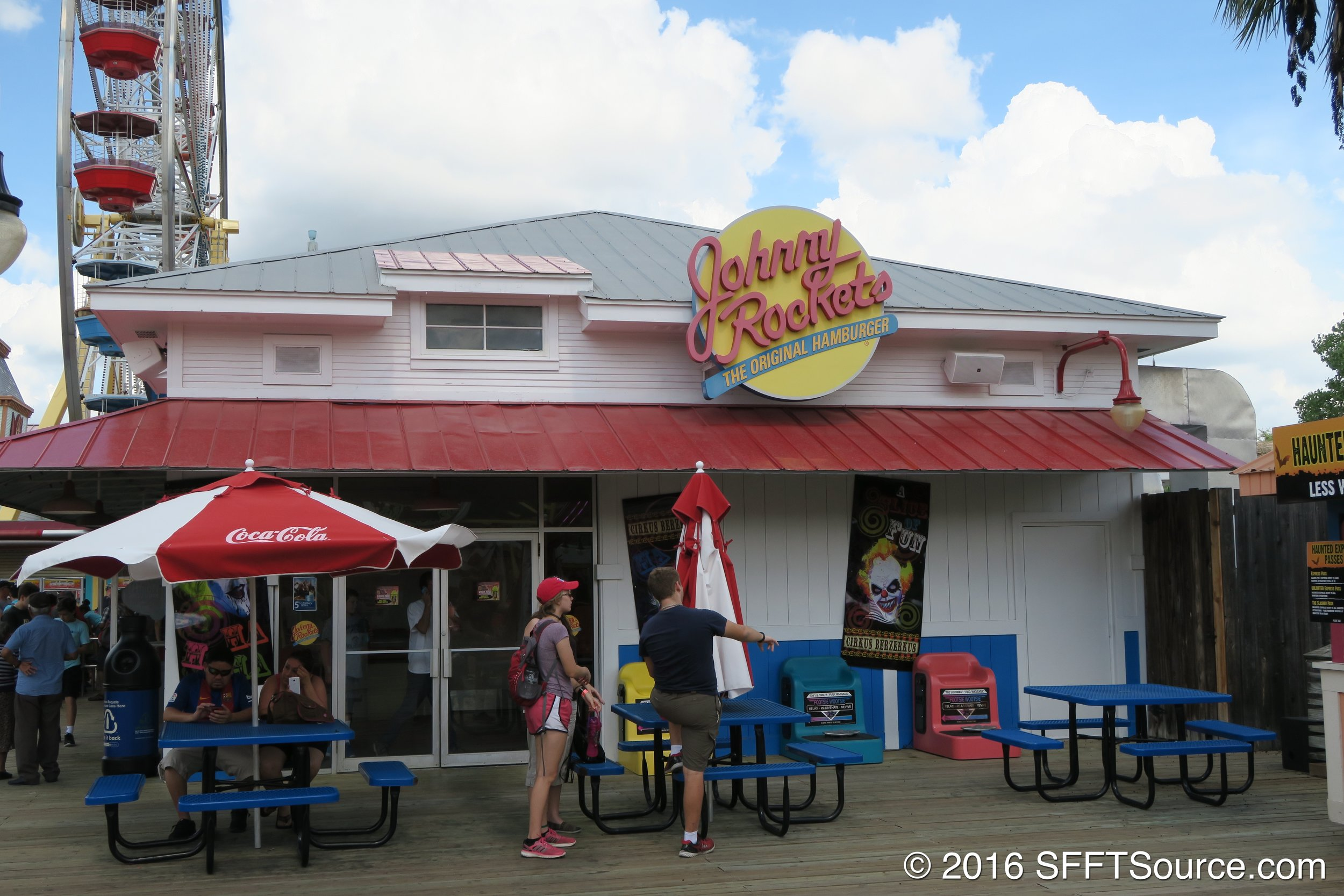 The Johnny Rockets location on Fiesta Bay Boardwalk.