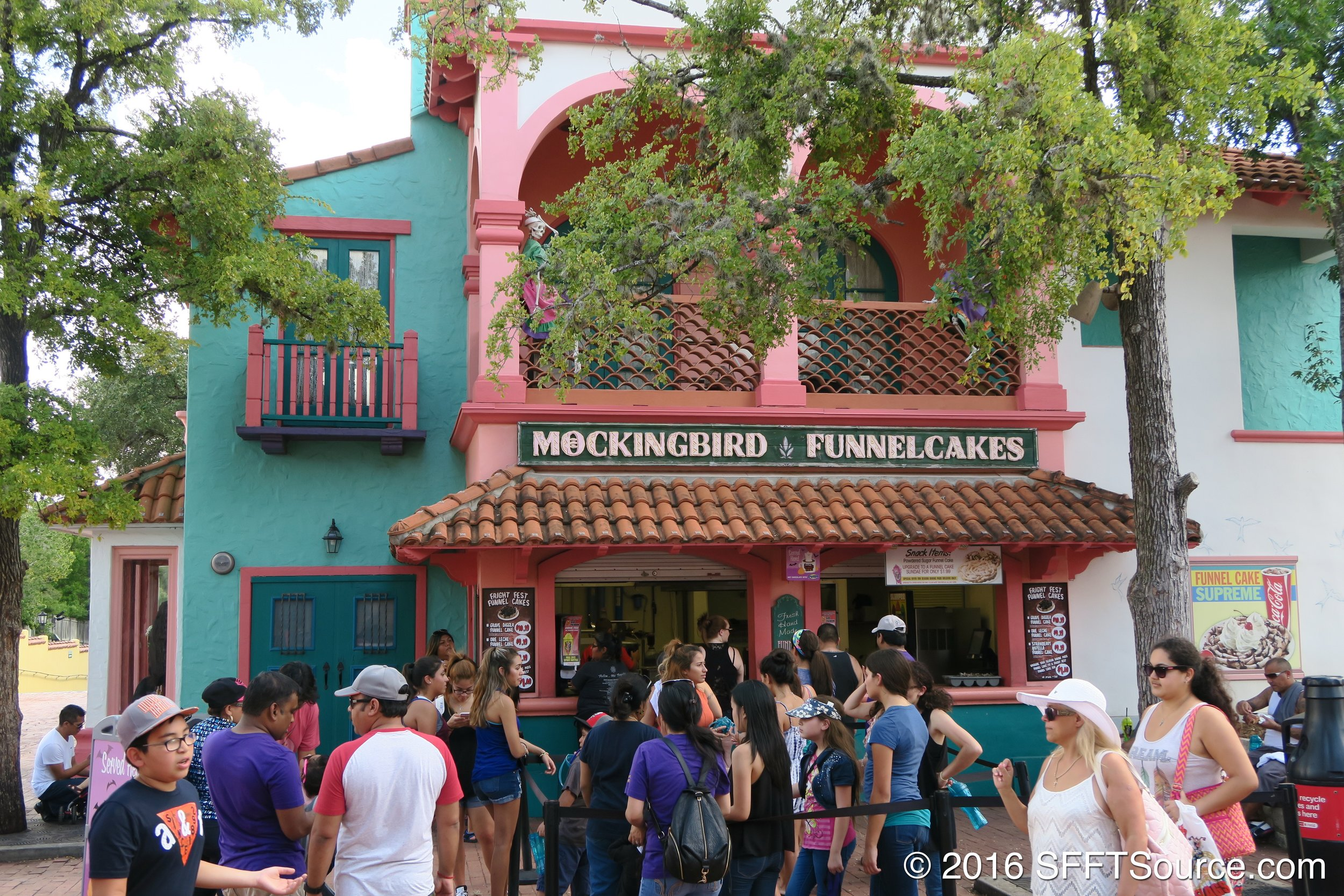 Mockingbird Funnel Cakes is an outdoor funnel cake stand.