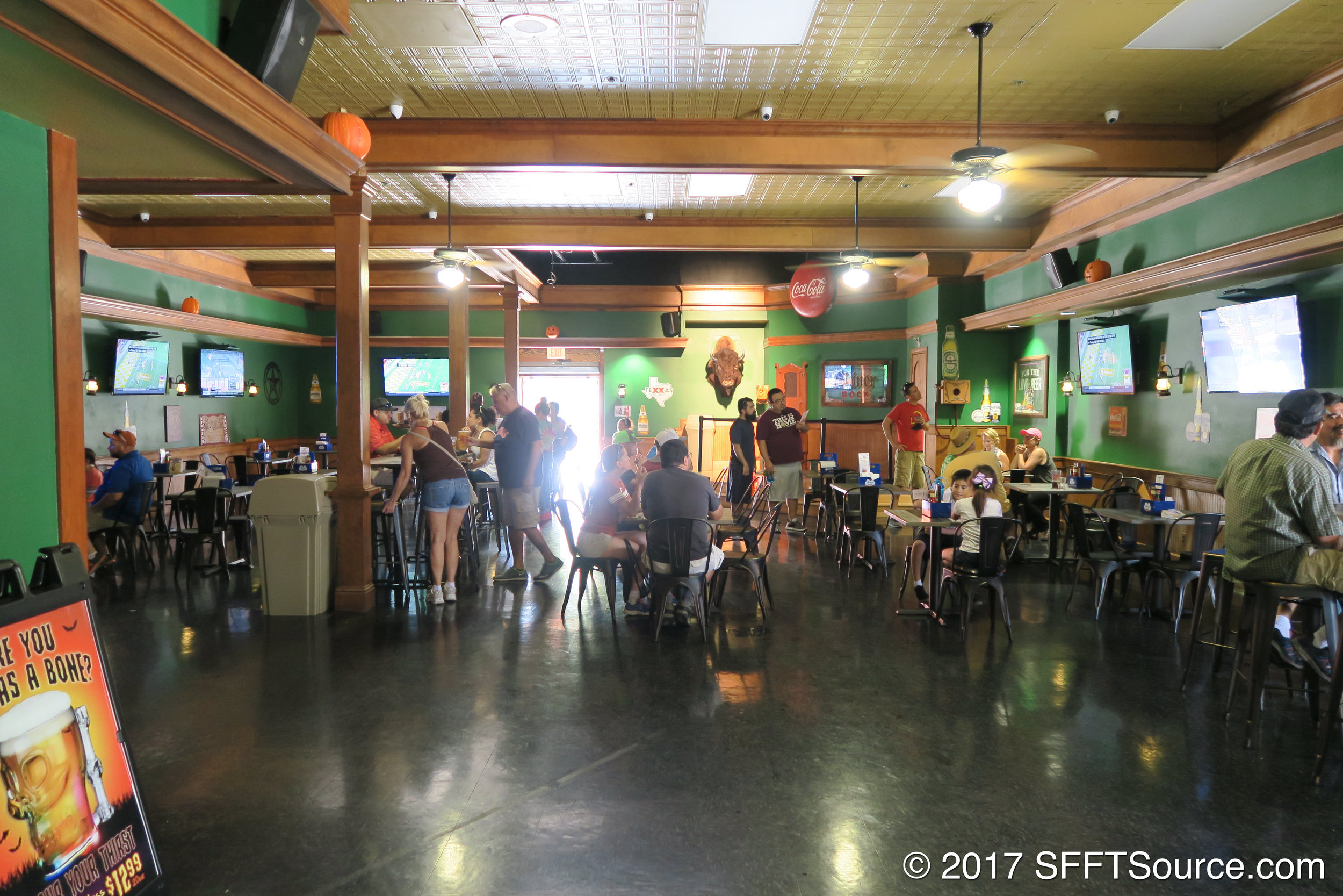 A look at the indoor seating area.