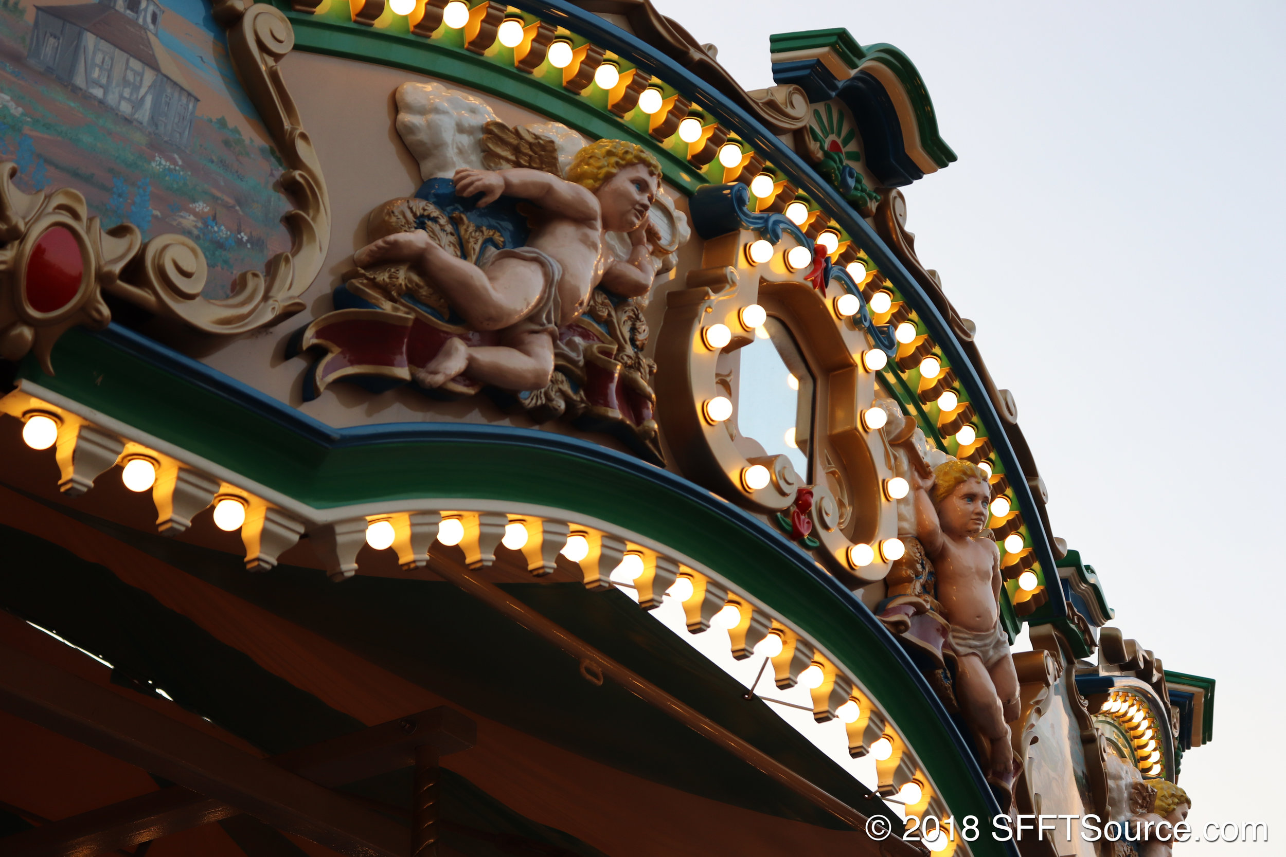 Grand Carousel features many points of detail.
