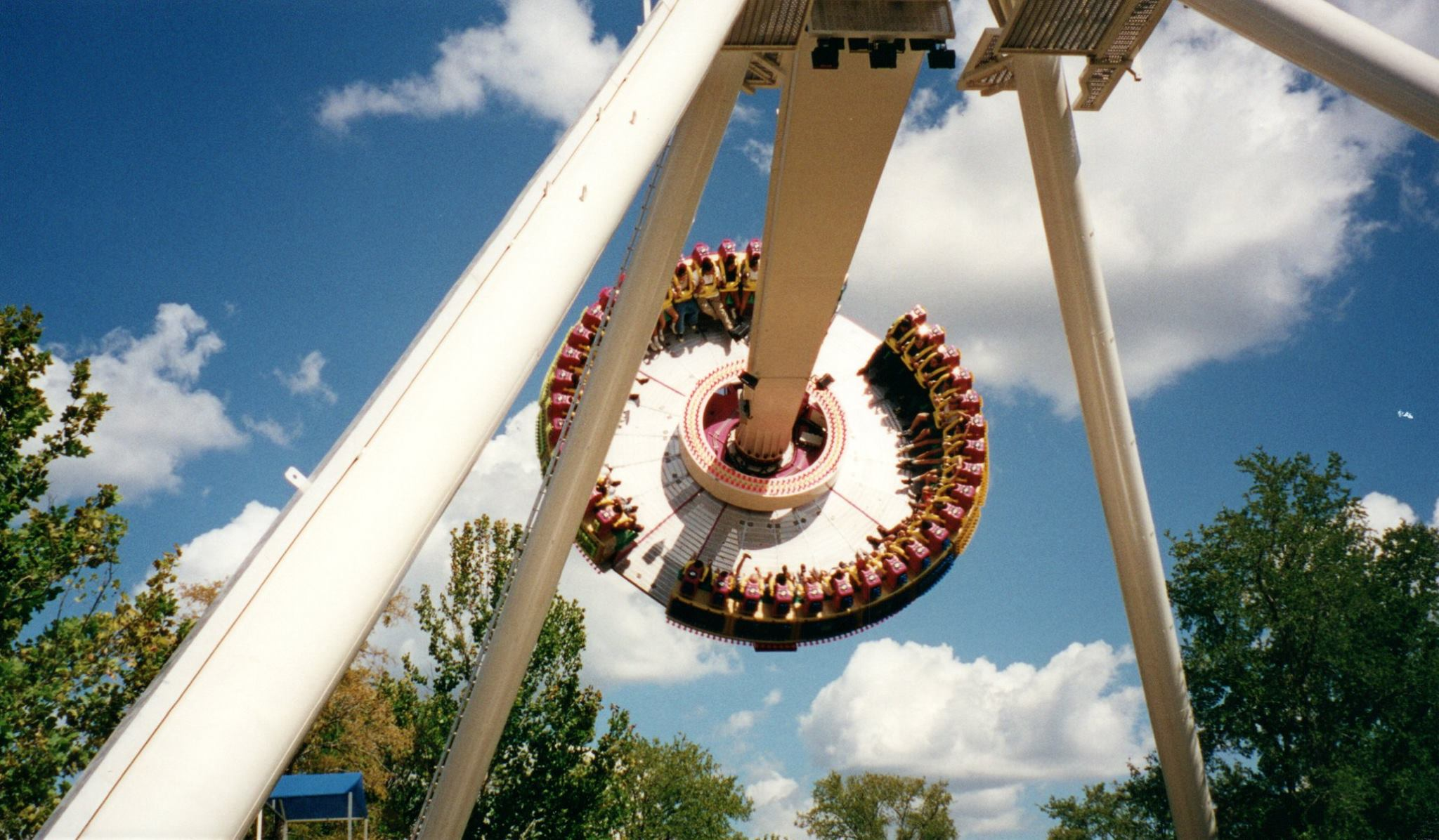 Frisbee was once located in Los Festivales. Credit: American Coaster Enthusiasts