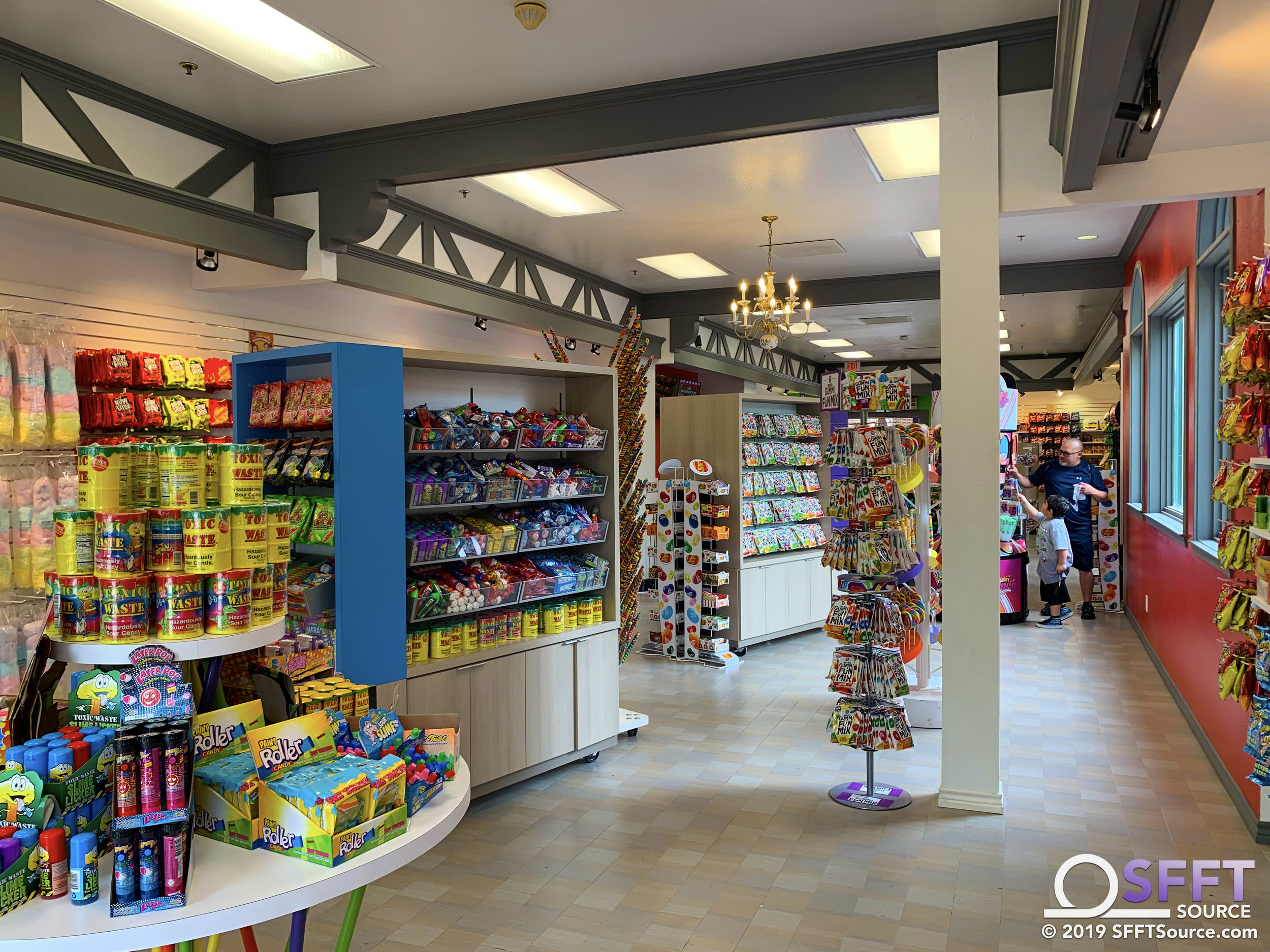Numerous candy selections are found at Coaster Candy.