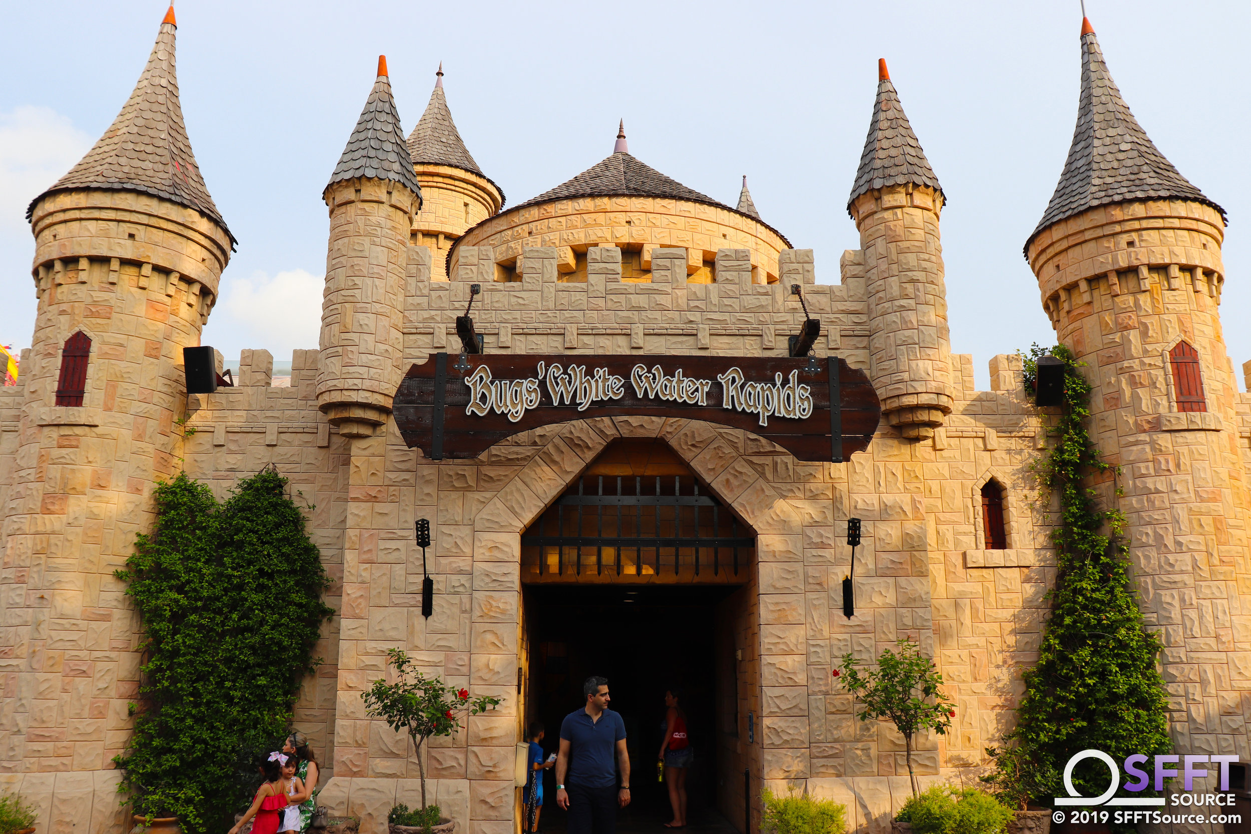 The main entrance to Bugs' White Water Rapids.