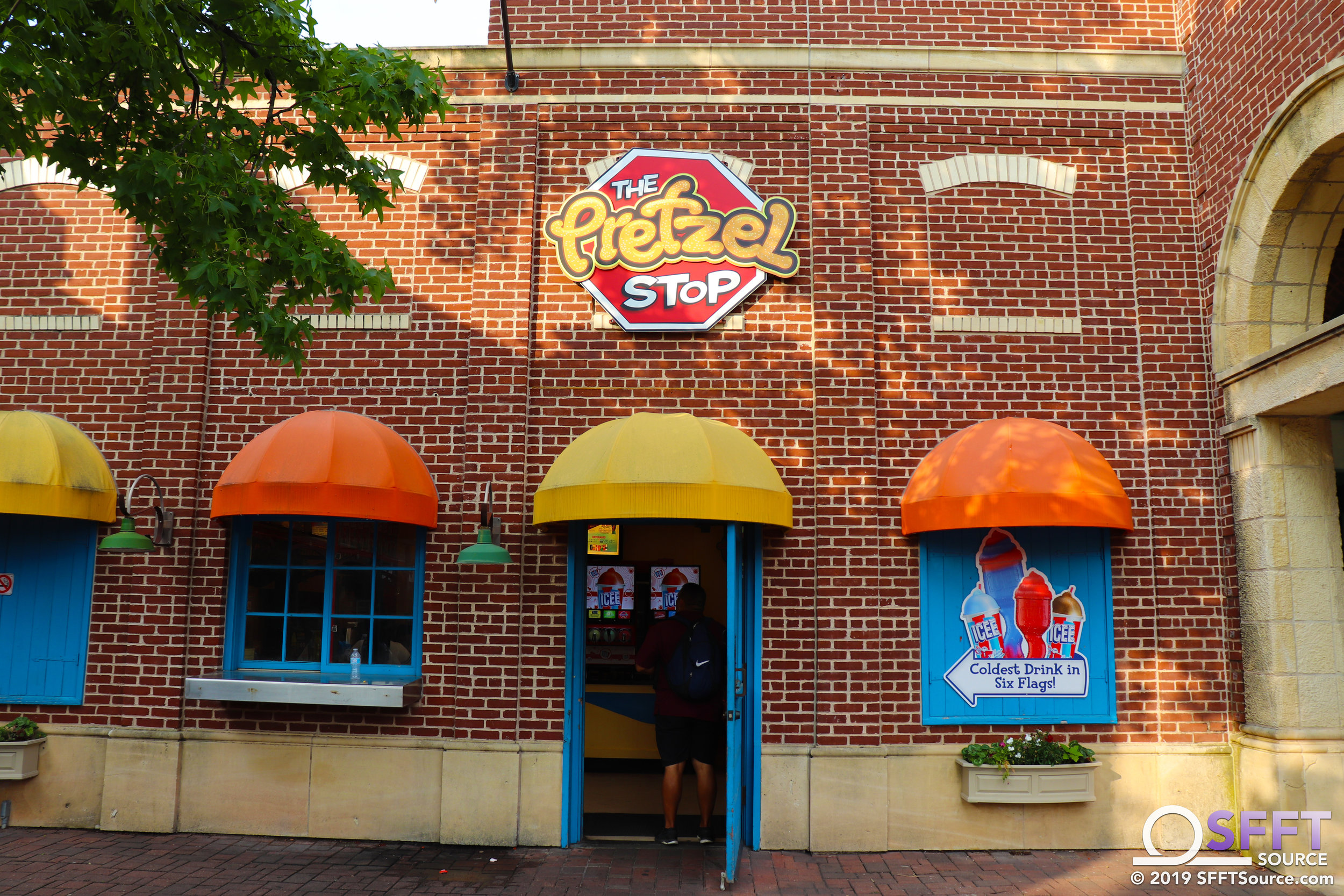 The Pretzel Stop features multiple Dining Pass options.