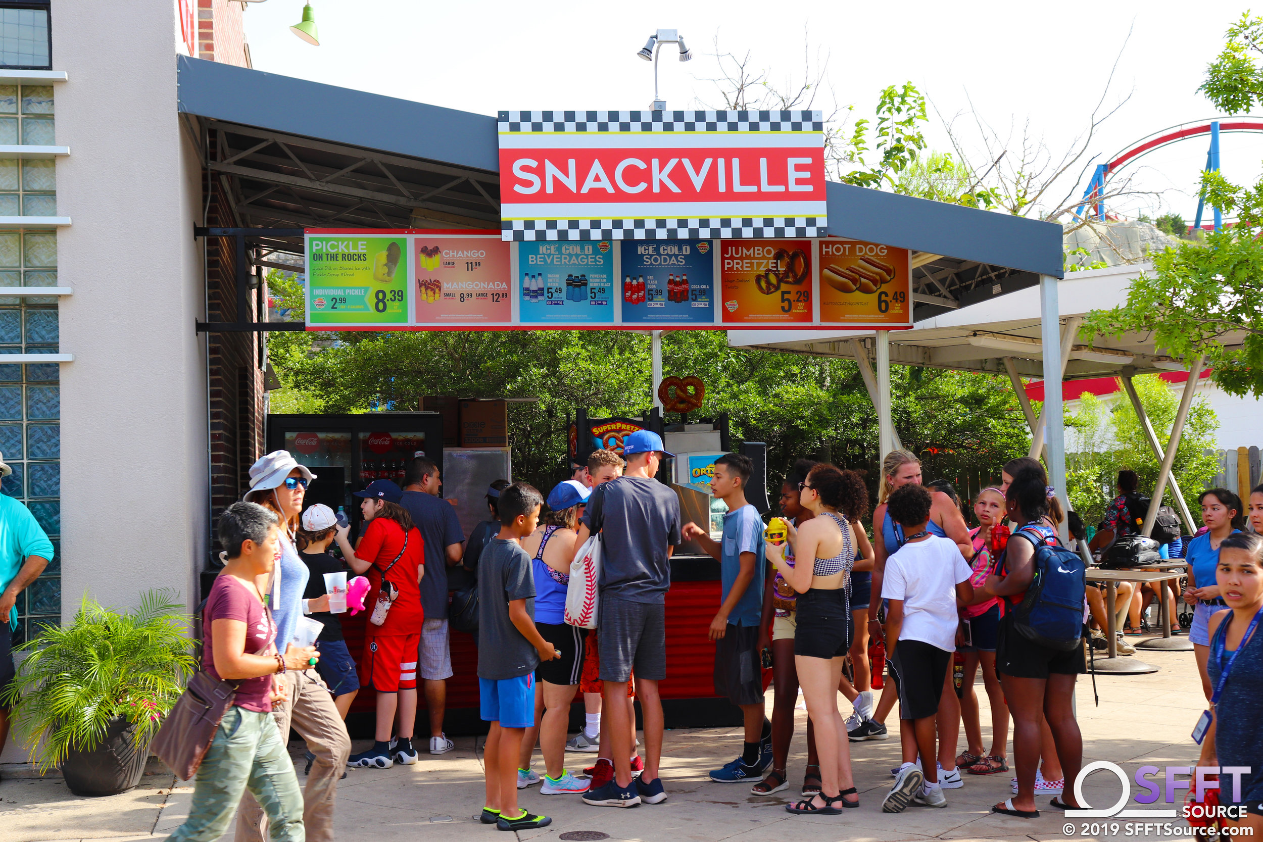 Snackville features a number of snack and drink options.