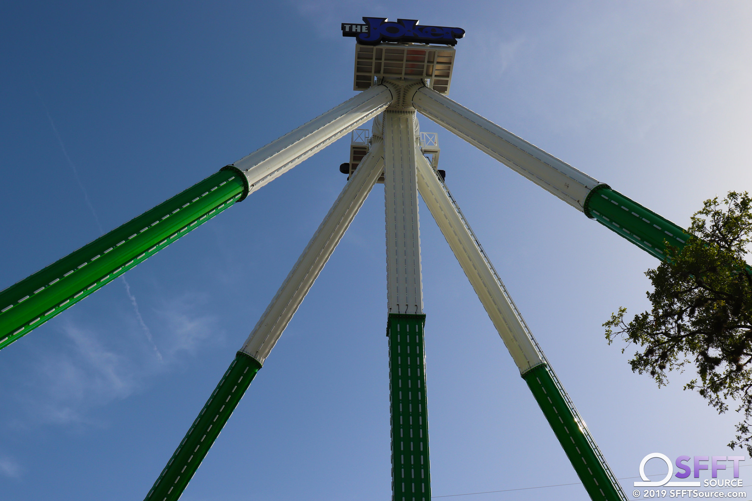 The Joker Carnival of Chaos is a Zamperla Giga Discovery attraction.
