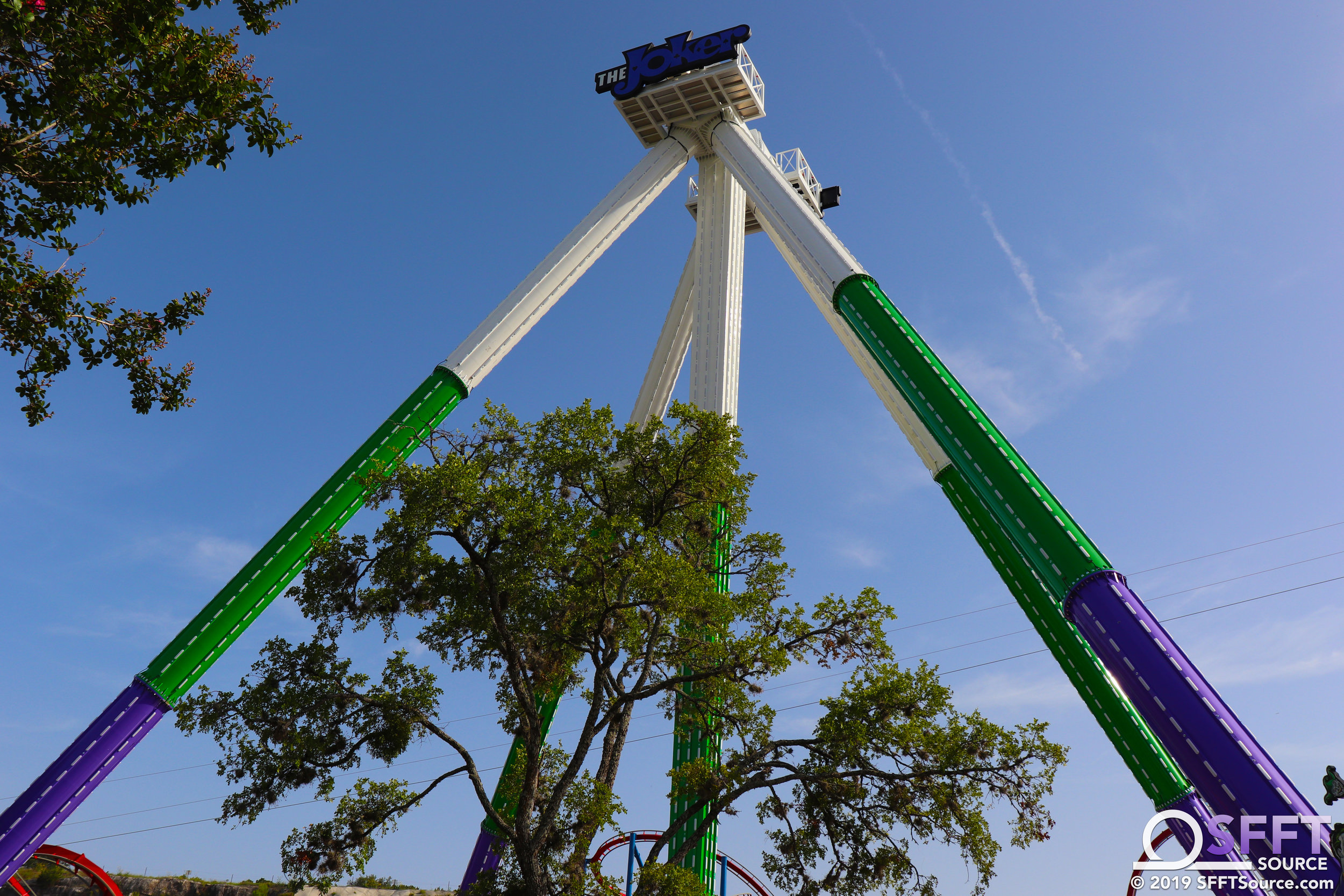The Joker Carnival of Chaos stands 172 feet tall.