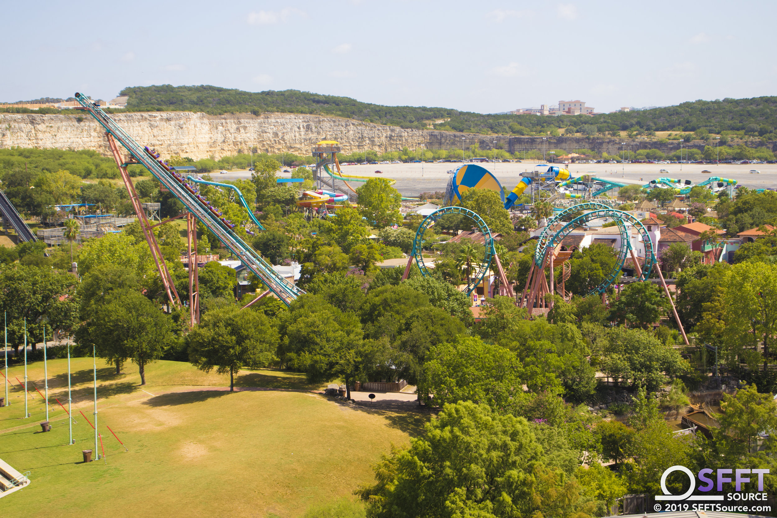 A view of Boomerang from atop the quarry wall.