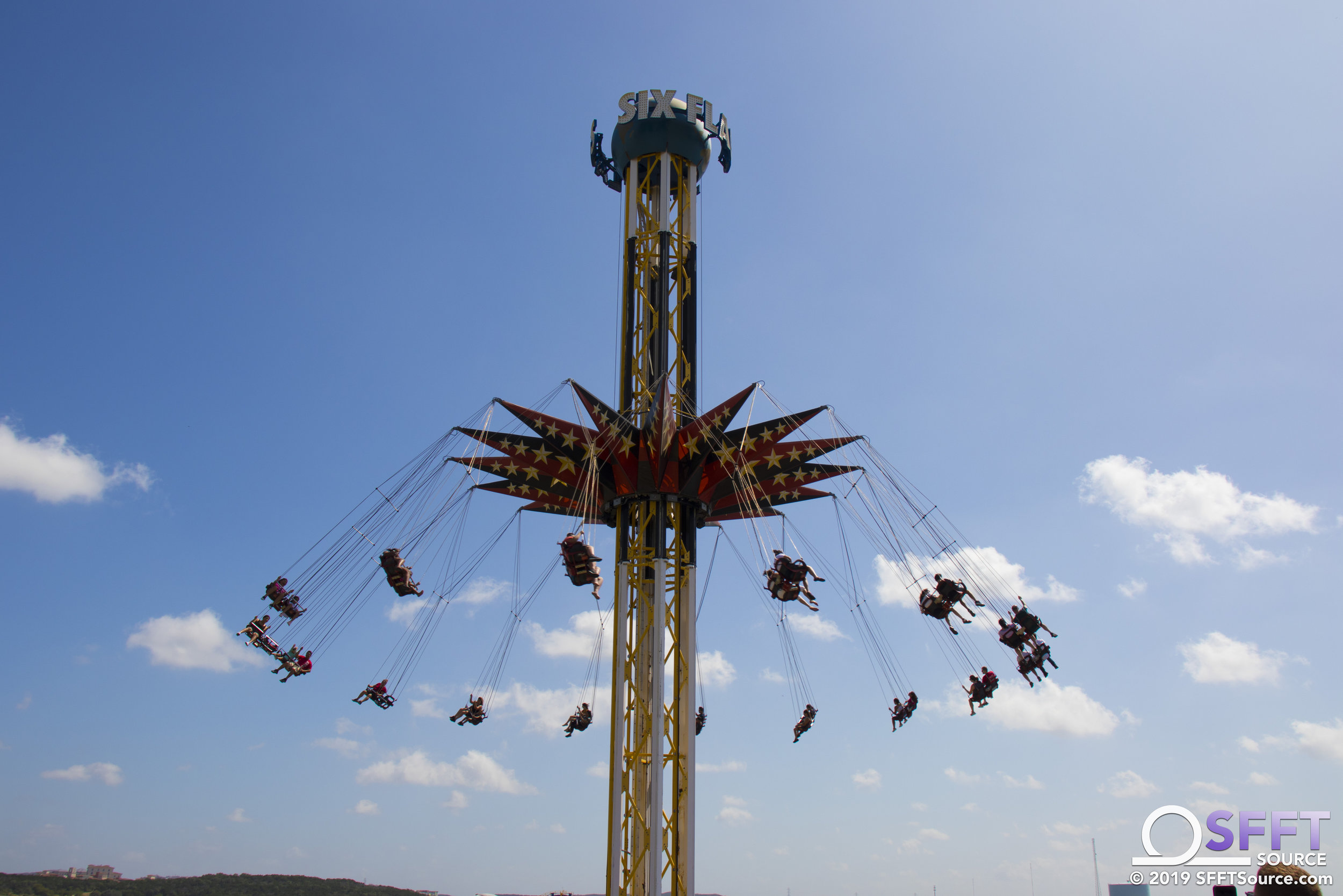 A view of SkyScreamer from atop the quarry wall.