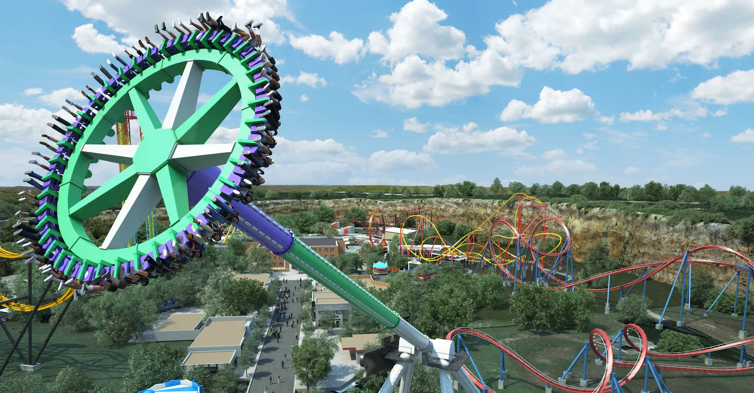 The Joker Carnival of Chaos is the premier addition to the all-new DC Universe park area.