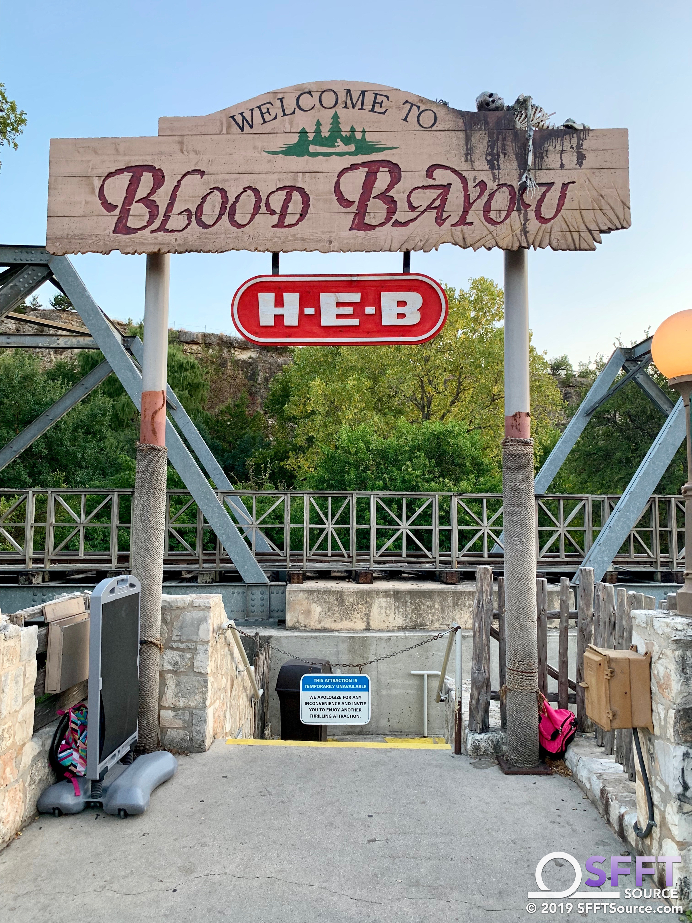 The Blood Bayou haunted house, located in the Gully Washer queue, returns for 2019.