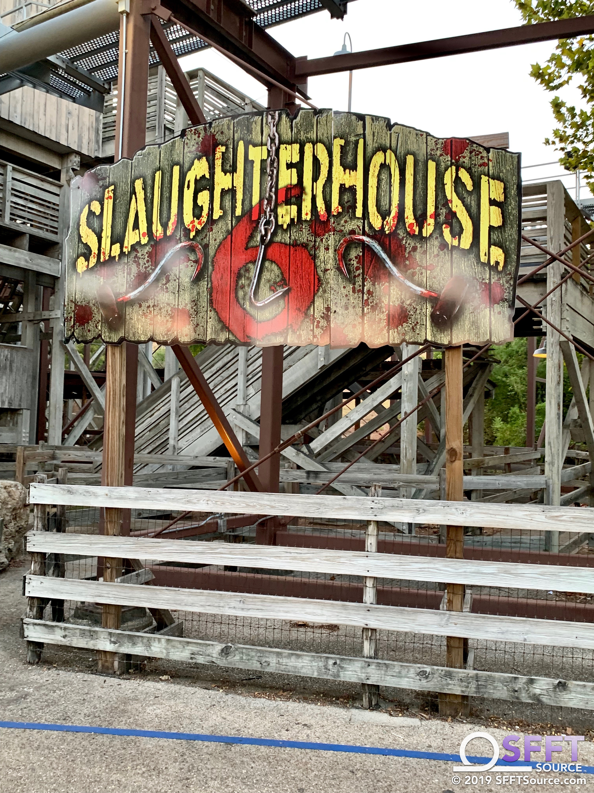 The signage for the Slaughterhouse 6 haunted house has appeared in Crackaxle Canyon.