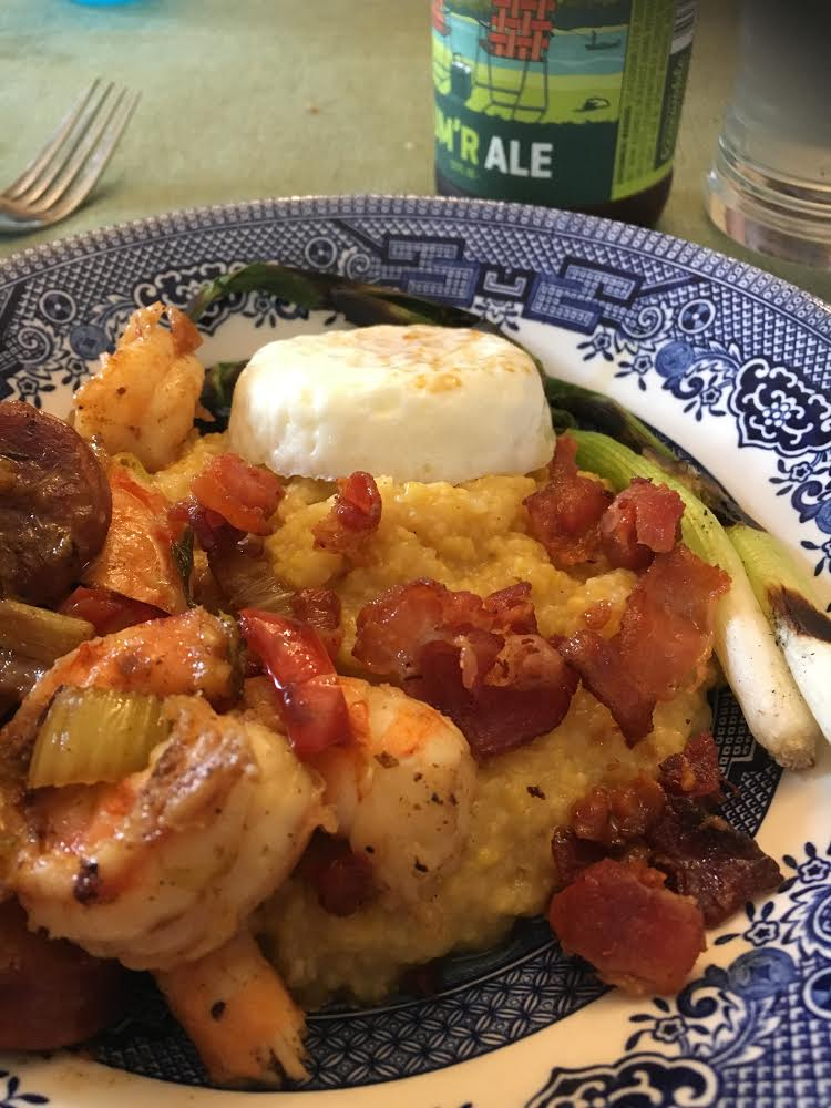 A shrimp and grits prepared by  Colt Smith  during the 2017 Dinner Club