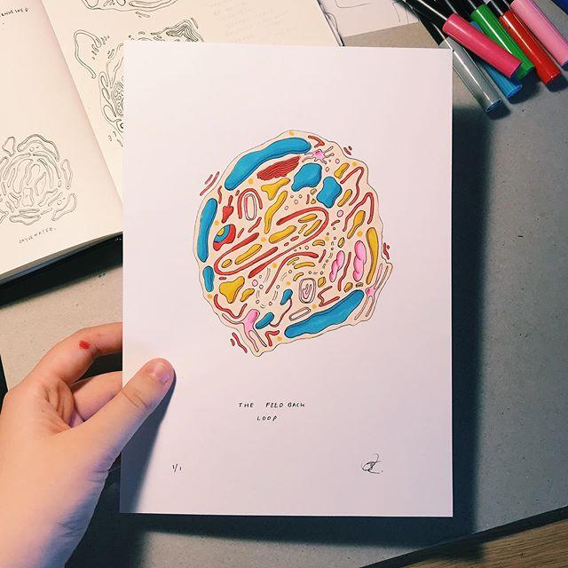 The Feed-back Loop 🌐 Original drawing (Fine-liners and Marker Pens on Cartridge Paper) ✍🏻🌷 . . . . . . . . . #artistsoninstagram #art #artist #procreate #drawing #colourful #comic #comics #comicbook #artist #graphicdesign #graphics #design #psychedelic #digital art #digitalartwork #indiecomics #photoshop #wacom #procreate #digitalcomic #webcomic