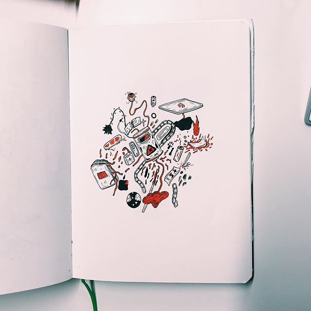 ENERGY 🔋🍓let me know what you think ⬇️ . . I've been drawing by hand a lottttt more... you've probably noticed if you keep up to date with my work. Personally, I find it a lot more relaxing. I enjoy making mistakes and having a more creative approach ✌🏻 towards the end of the summer I'm hoping to sell a range of original works 💌💳 . . . . . . #artistsoninstagram #art #artist #procreate #drawing #colourful #comic #comics #comicbook #artist #graphicdesign #sharpie #design #cartoon #digital art #digitalartwork #customised #poscapens #sketchbook #doodle