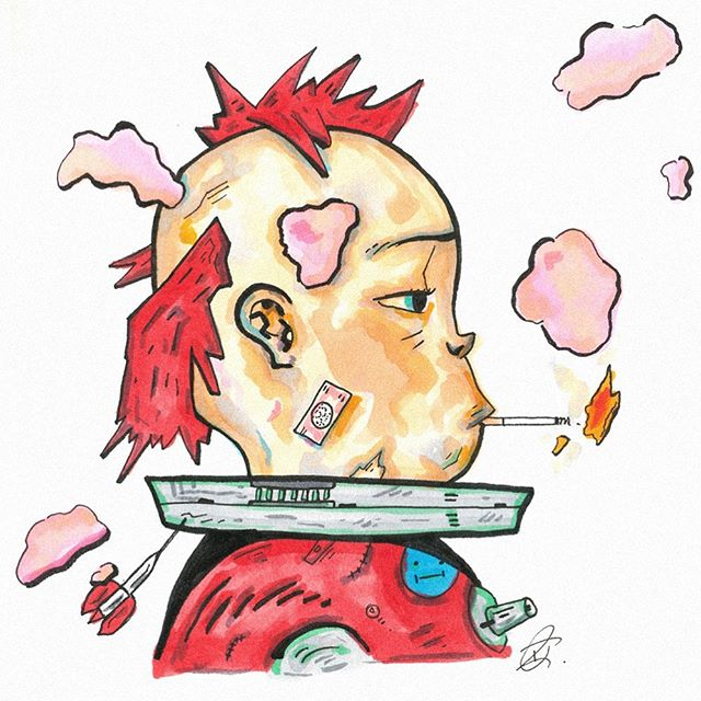 Recent drawing of tank girl 💎⛓🌷 Drawn on cartridge paper with fine liners and Copics ✌🏻 . . . . . . #artistsoninstagram #art #artist #procreate #drawing #colourful #comic #comics #comicbook #artist #graphicdesign #graphics #design #psychedelic #digital art #digitalartwork #indiecomics #photoshop #wacom #procreate #digitalcomic #webcomic #pride