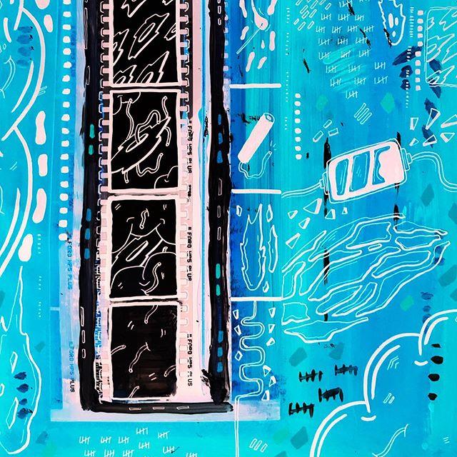 Sneak peak of a new piece 'BLUE FLAMES' ✌🏻👀 (Film, paint, posca pen) . . . . . . . . #artistsoninstagram #art #artist #procreate #drawing #colourful #comic #comics #comicbook #artist #graphicdesign #graphics #design #psychedelic #digital art #digitalartwork #indiecomics #photoshop #wacom #procreate #posca #poscapen #painting