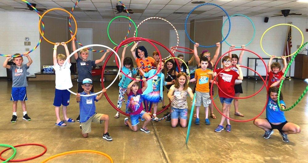 Hooplahoma at Arts Explosion! in Duncan, Oklahoma