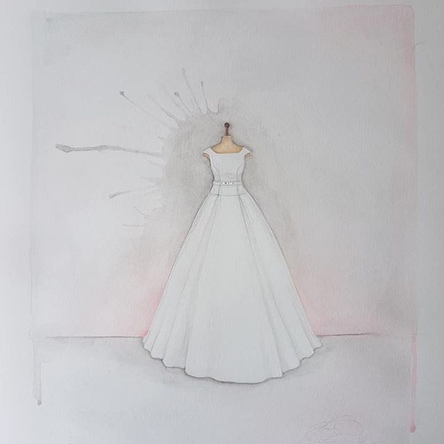 | WATERCOLOUR | My lovely friend Frankie from @francescapcart surprised me today with a painting of my wedding dress, I'm blown away and absolutely thrilled with it! ☺️ Frankie you are so talented!!! 😘 Pop over and see her stunning work! . . #rebeccabarnettweddingdesign #rbwd #weddingplanner #weddingdress #audreyhepburn #audreyhepburnstyle #bluebridalwear #weddingdressportrait #bridalgown #watercolour #artistsoninstagram #talented #weddinggift #anniversarygift