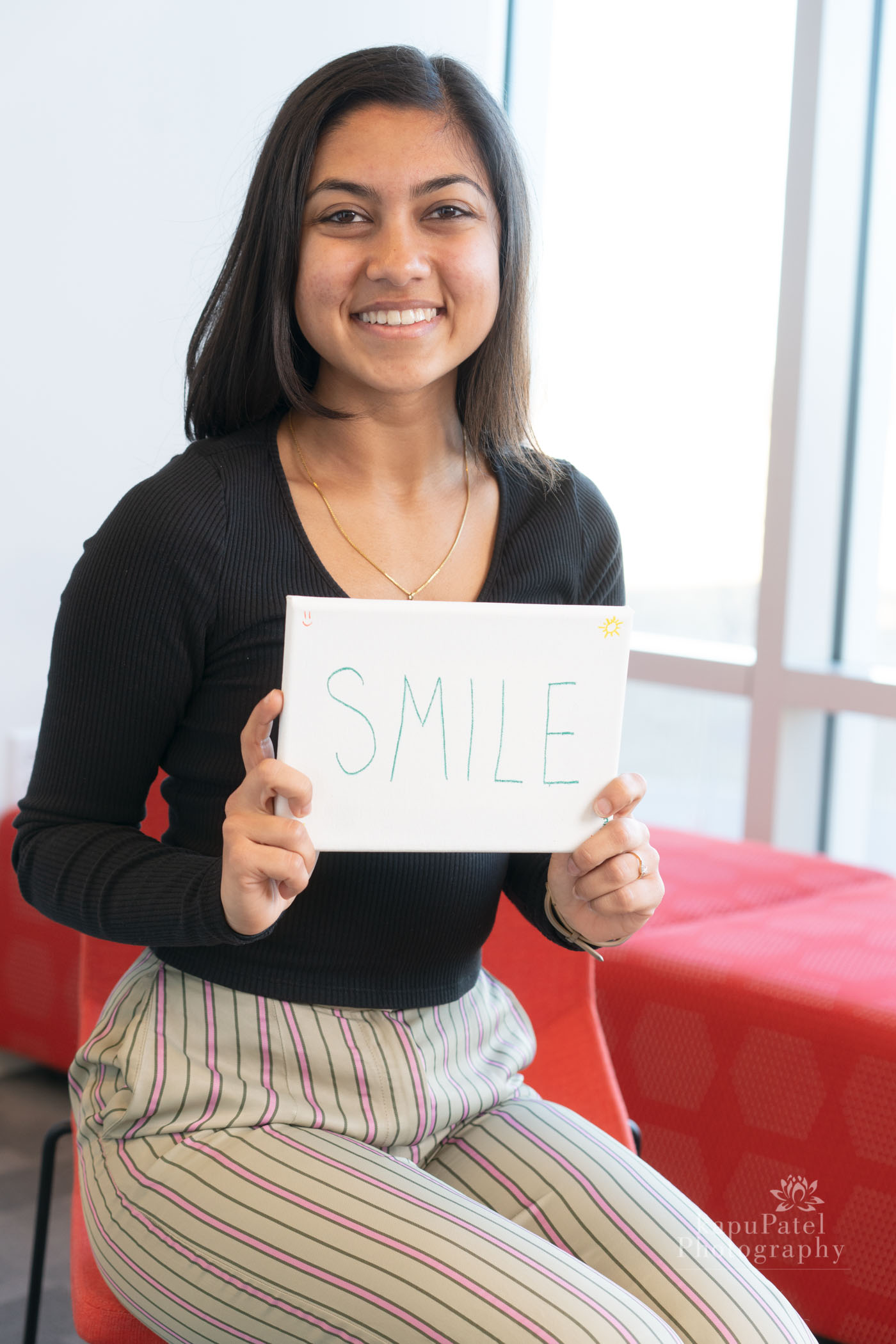 AYUSHI - I am not afraid to smile or laugh. I love smiling, and I love laughing more. My smile almost gives me some type of superpower ability to overcome any hardship.