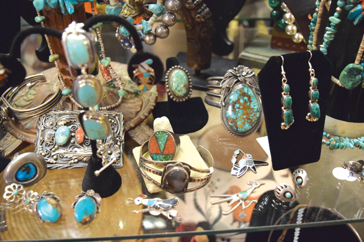 At  Squash Blossom Trading Co. , located at 746 Main Street, shoppers will find a wonderful selection of antiques, fine jewelry, rustic furniture, Mexican silver and more!