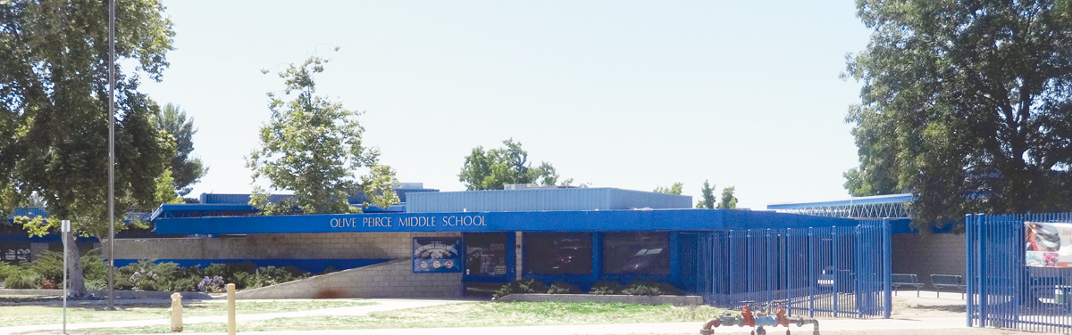 """Olive Peirce Middle School  has received a """"California School to Watch"""" Honor since 2012"""