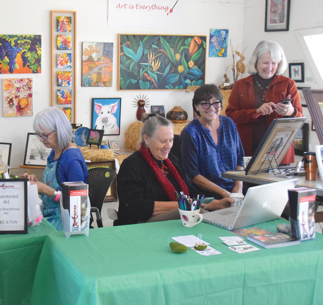 Festival guests and artists had the opportunity to complete art projects during the event. Photo by Angela McLaughlin.