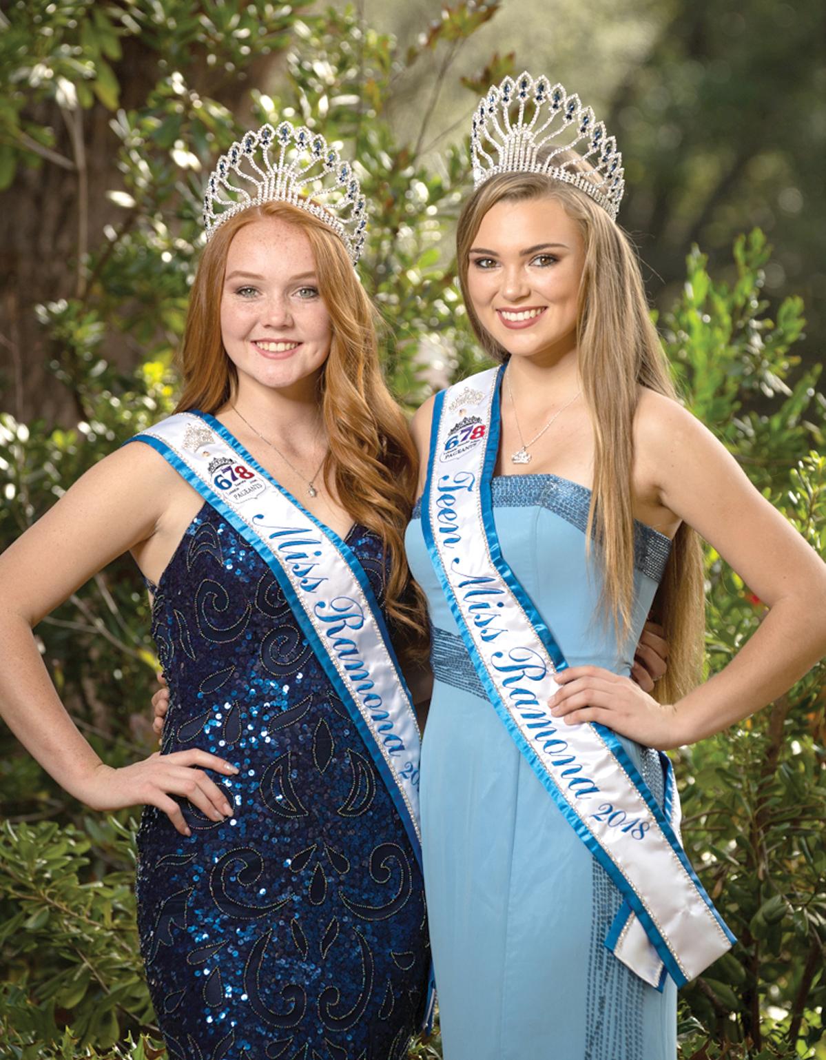 Miss Ramona 2018 Megan Kelly, left, and Teen Miss Ramona 2018 Makenna Hyland.   Photo by Rob Riingen Photography