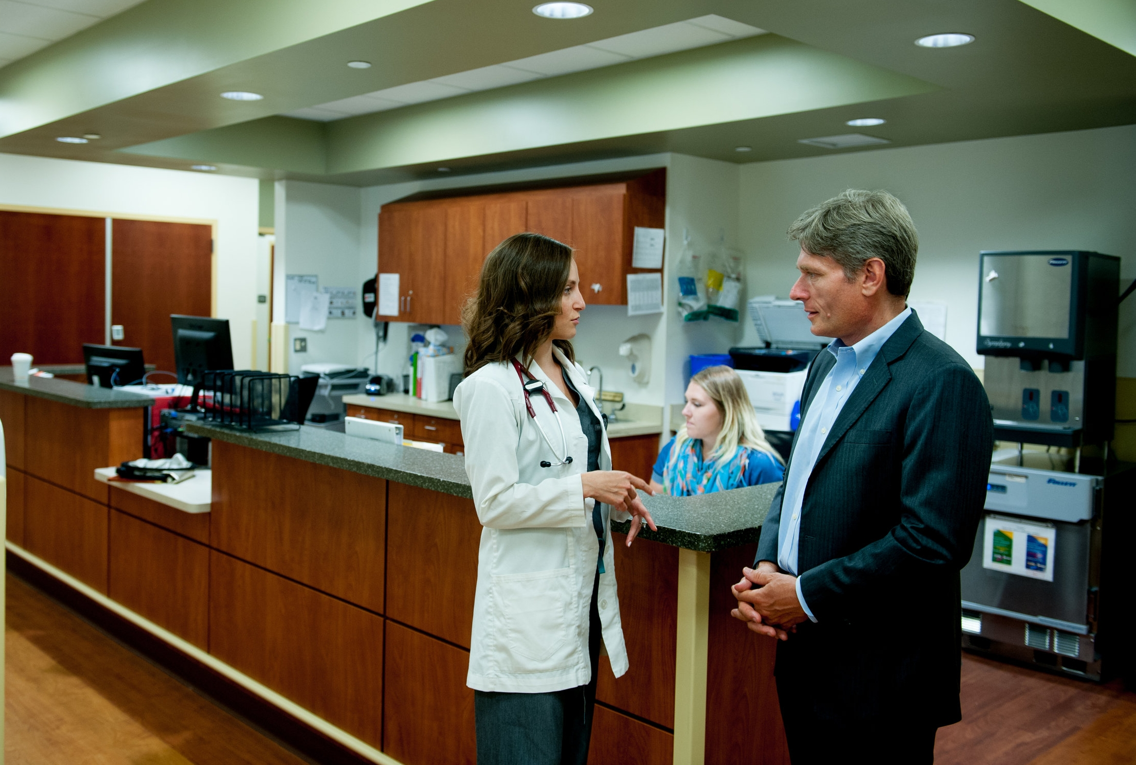 Tom Malinowski Touring Healthcare Facility