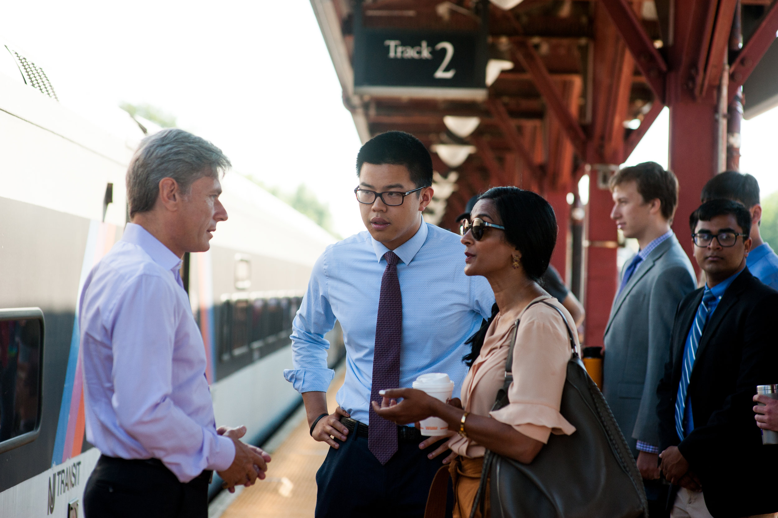Tom Malinowski Touring Train Station