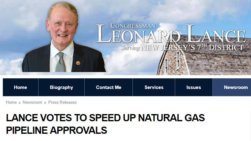 Leonard Lance Voted to Speed Up Pipeline Approvals