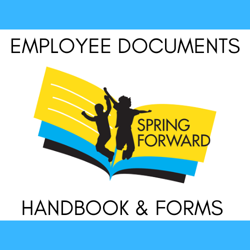 Click the image for links to important employee documents, including the employee handbook, time sheets, and policies.