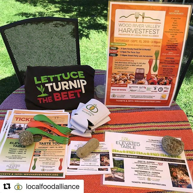#Repost @localfoodalliance with @get_repost ・・・ Have you gotten your tickets to The Elevated Table and the HarvestFest Taste Tour on 9/14 & 9/15? Come find us at the Ketchum farmers' market today or visit Wrvharvestfest.org! . #eatlocal #localfood #locavore #localfarms #farmersmarket #farmtotable #farmtofork #foodresilience #community #communityresilience