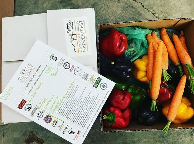 It's been a very busy week driving from farm to farm to pick up freshly harvested ingredients for @woodrivervalleyharvestfest ! Please join us this Saturday to enjoy the spoils! Taste Tour tickets on sale at WRVHarvestfest.org. .  #harvest #fallharvest #localfood #localfarms #eatlocal #locavore #farmtofork #carrots #peppers #lovewhatwedo #foodresilience #community