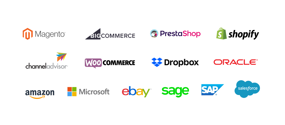 LEADING ECOMMERCE PLATFORM INTEGRATIONS - Make data transfers seamless, which means a fast setup and, best of all, a fast return on investment.
