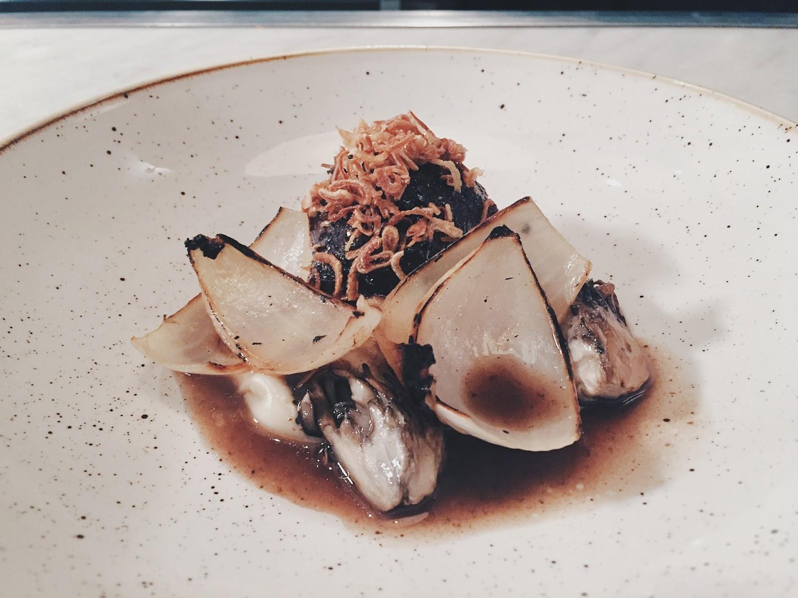 Braised Wagyu Beef Cheek - Parsnip, Maitake Mushroom