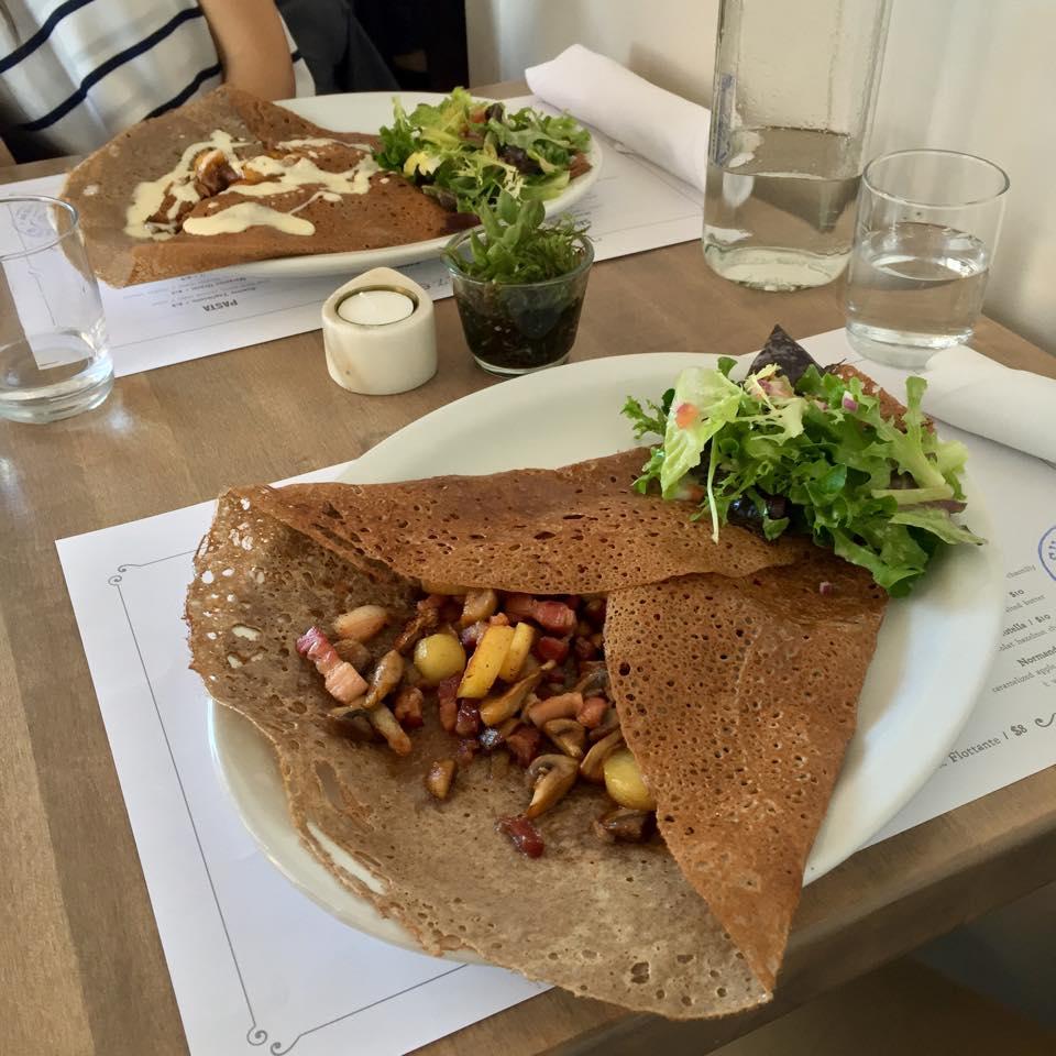 Paysanne Galette - local farm bacon, roasted potato,sautéed mushrooms