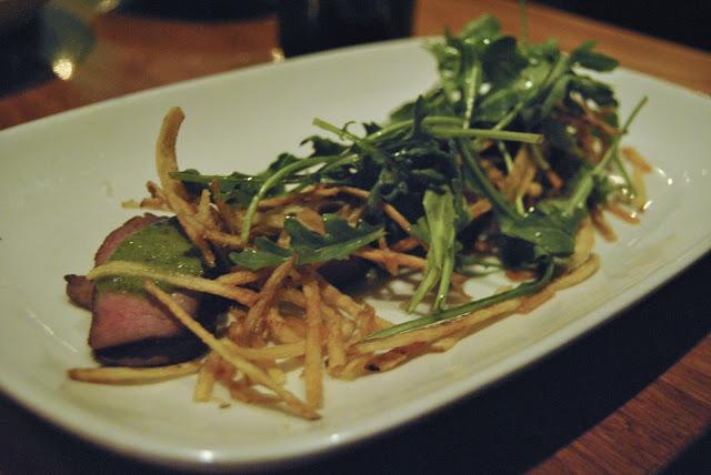 Spring Creek Butcher Steak - chimichurri, arugula, fried matchstick potatoes