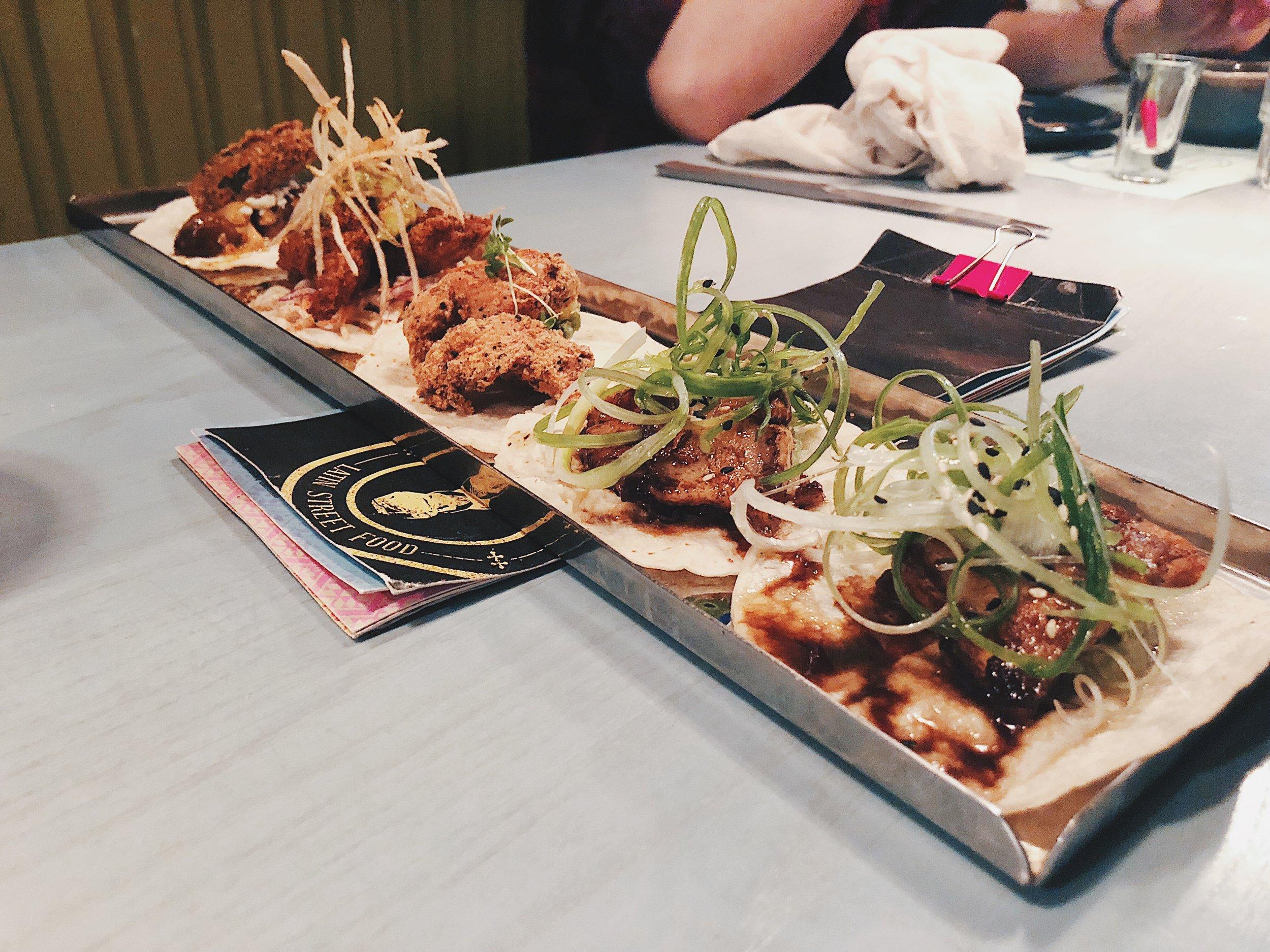 Atole Fried Chicken — serano, yuzu aioli, corn esquites, tajin