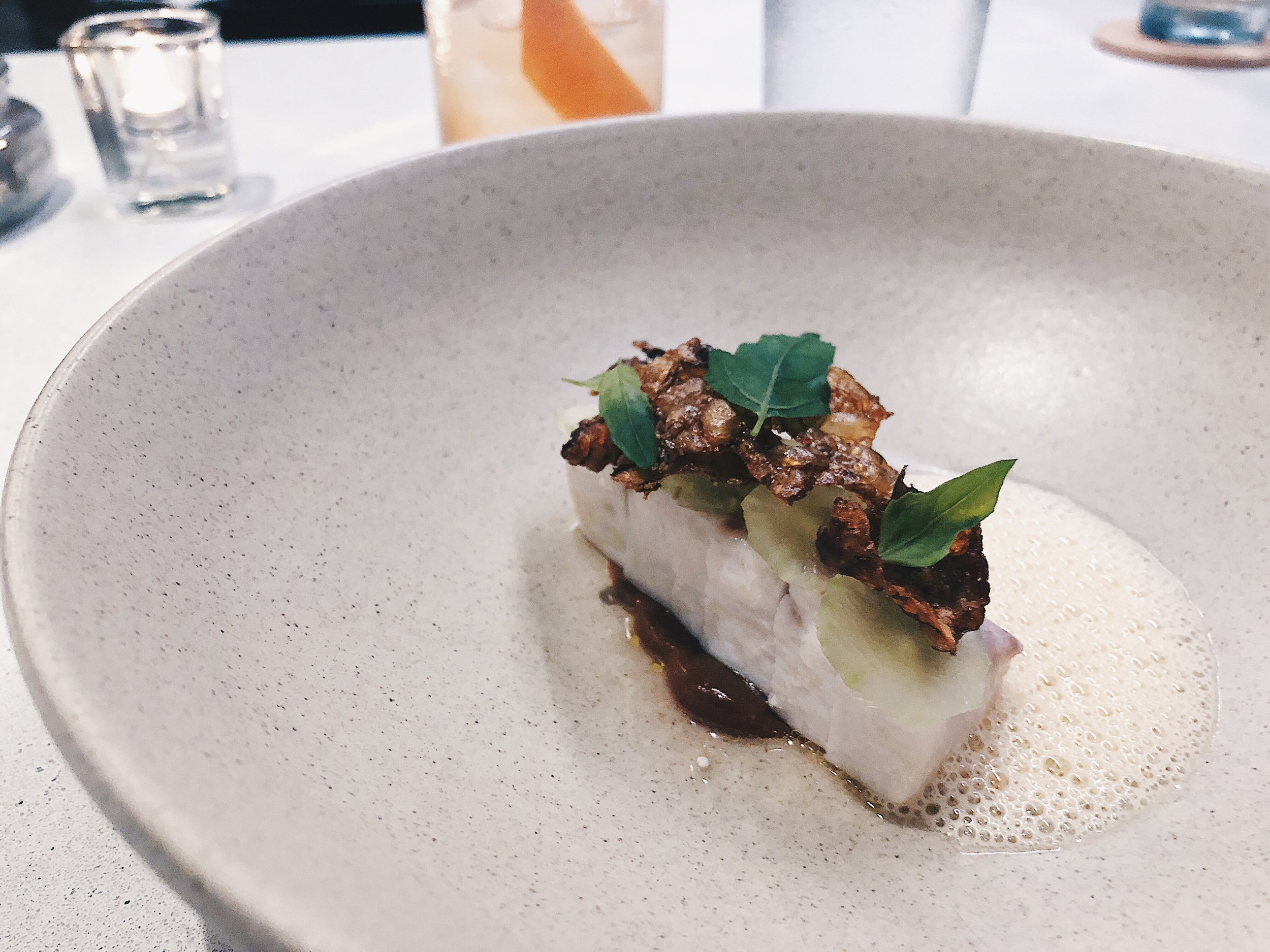 swordfish, sunchoke, celtuce