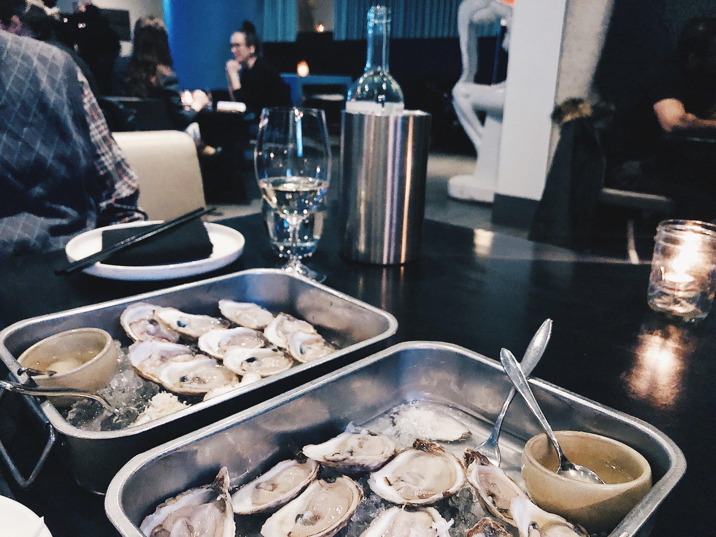 $1  Oysters  and Mandrarossa 'Jummare',  Pinot Grigio , Sicily, Italy