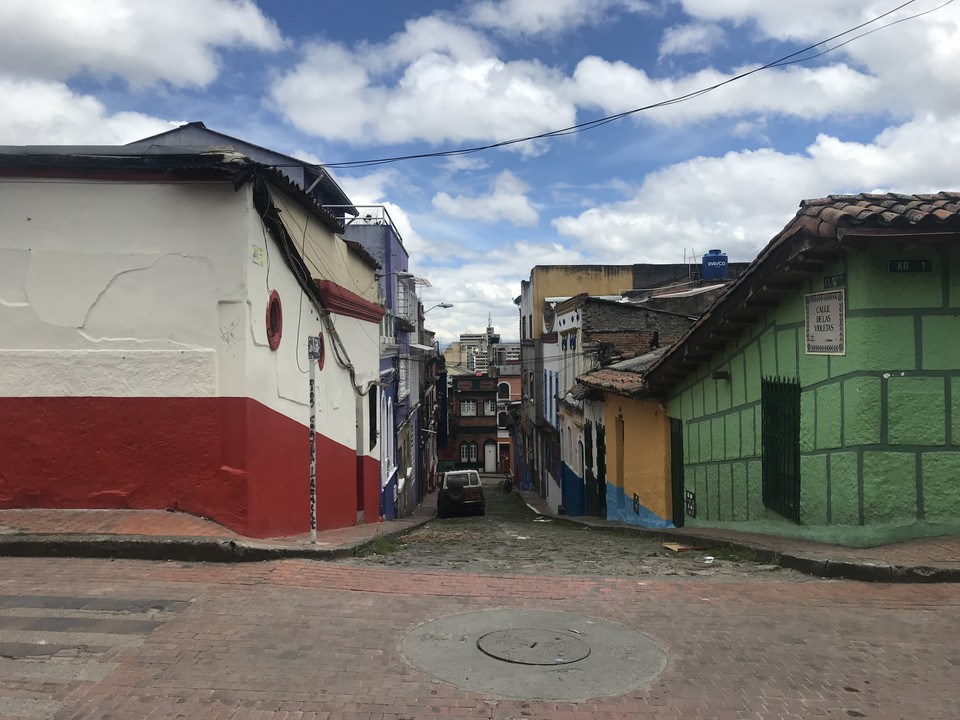 Street view of La Candelaria from our recent scouting visit to Bogotá