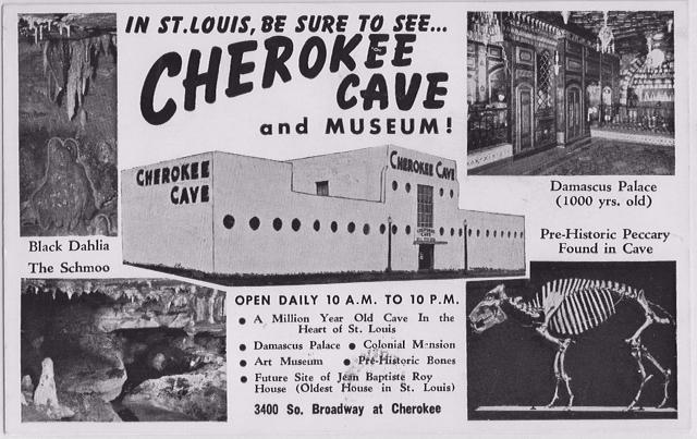 Vintage Cherokee Cave postcard