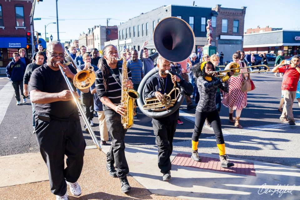 The Cherokee Street Jazz Crawl passes the gallery each November
