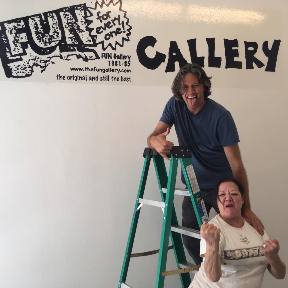 """Patti Astor and Benjamin Lowder 2017 NYC, Urban Art Fair, """"Fun Gallery Flash"""""""